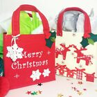 Christmas gift bags 2x set felted Scandinavian style red and white favour gift