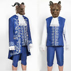USA Beauty and the Beast The Beast Prince Adam Suit Beast Mask Cosplay Costume