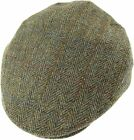 Authentic Harris Tweed County Cap Green Herringbone