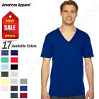 American Apparel 100% Cotton Imported Unisex Fine Jersey V-Neck T-Shirt M-2456W