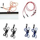 2x 120cm Strong Elastic Safety Canoe Kayak Paddle Fishing Rod Pole Leash Lanyard