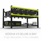 Veddha 8/6 GPU Mining Rig Aluminum Stackable Case Open Air Frame ETH/ZEC/Bitcoin