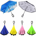 Upside Down Reverse C-handle Double Layer Inside-out Windproof Umbrella Gift