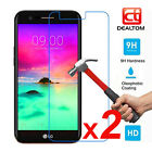 2 Packs 9H Premium Tempered Glass Screen Protector Film For LG K3 K4 K8 K10 2017