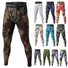 Men Sports Compression Base Layer Camo Pants Leggings Fitness Training Trousers