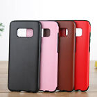 New Leather PU Pattern Back Soft Rubber Case Cover For Samsung Galaxy S8+ Plus