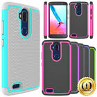 For ZTE MAX Blue LTE Z986DL Case Hybrid Dual Layer Shockproof Protective Cover