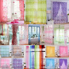 Floral Tulle Voile Door Window Curtain Drape Panel Sheer Scarf Valances Newest