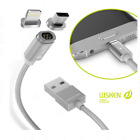 Branded Wsken X-Cable Mini 2 Series Metal Magnetic Cable For Android & Iphone