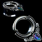 Ear gauges Ear plugs Flesh tunnels stainless steel tunnels with ornate abalone