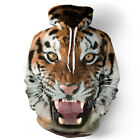 Unisex Creativity Graphic Tiger Head Couples 3D Hoodie Pullover Tops