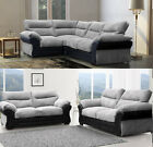 Juno Fabric Large Corner Sofa 2c2 Brown Coffee Grey Black Rhino 3 + 2 Seater Set