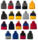 Sportsman Pom Pom Knit Cap, Beanie with ball on top, Team colors hat (SP15)