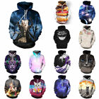 Unisex Fashion Creativity Graphic Couples 3D Hoodie Pullover Tops