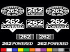 10 DECAL SET 262 CI V6 POWERED ENGINE STICKERS EMBLEMS 4.3 L VINYL DECALS S10