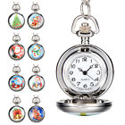 Vintage Style Xmas Santa Claus Pocket Watch Chain Necklace Watch Christmas Gift