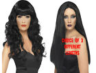 Ladies Long Black Wig Halloween Witch Wig Fancy Dress