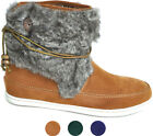 Halbhohe FAKE FUR Velours BOOTIES Stiefel STIEFELETTE Fell Indie Style