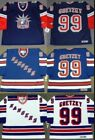Wayne Gretzky 99 New York Rangers Hockey Men Jersey Vintage Throwback STITCHED