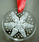 LALIQUE Snowflake Clear Christmas Crystal Ornament 2013 New in Box - #10330700