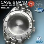 MC WATCH CASE 41 MM + STEEL BAND FOR ETA VALJOUX 7750, ROTATION BEZEL, 200 ATM