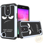 For LG Rebel 2 Case, 2-Layers Design Hybrid Shockproof Protective Phone Cover