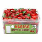 HARIBO HAPPY CHERRIES 120 CHERRY FLAVOUR AND SHAPED GUMMY SWEETS.
