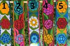 COLORFUL EMBROIDERED FLOWERS MEXICAN CHIAPAS BELT(ONESIZE,ADJUSTABLE 4