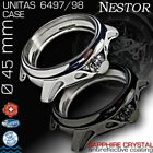 WATCH CASE NESTOR,45MM,ST.STEEL,SAPPHIRE CRYSTAL FOR MOVEMENT ETA UNITAS 6497/98