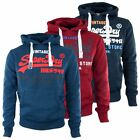 SUPERDRY HOODIES - SUPERDRY TRI COLOUR STORE HOODIE - BLUE, RED, PEPPERED BLUE