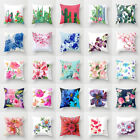 Polyester Flower Pillow Case Cover Sofa Car Throw Waist Cushion Cover Home Decor