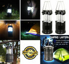 2-In-1 Portable Collapsible LED Lanterns Tac Light Lamp Emergency Camping Supply