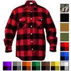 Extra Heavyweight Brawny Buffalo Plaid Flannel Long Sleeve Shirt