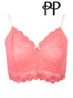Pretty Polly Non Wired Non Padded Lacy Bralette Coral Pink Pretty Polly Lingerie
