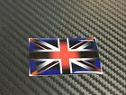UNION JACK FLAG ( RED WHITE & BLUE ) -  DOMED STICKER - CHOICE OF SIZES