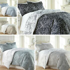 Ultra Soft 3-piece Reversible Winter Brush Floral Duvet Cover Set image