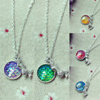 Women Fish Scale Pendant Mermaid Necklace Rainbow Chain Fashion Jewelry Gifts JR