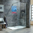 Walk In Wet Room Shower Screen 8mm Easy Clean Glass Shower Panel Enclosure