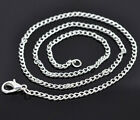 """12 Silver Plated Chain Necklaces 16"""" with Lobster Claw Clasps Great Quality N001"""