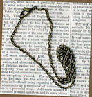 """12 Antique Bronze Tone Necklaces 18"""" with Lobster Claw Clasps - N019"""