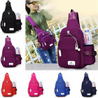 Women Men Nylon Shoulder Chest Cycle Sling Daily Bag Crossbody Travel Backpack