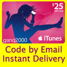 $25 APPLE US iTunes GIFT CARD voucher certificate FAST (USA Store) 100% Genuine