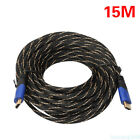 1.5M 3M 10M 15M Braided HDMI Extension Câble v1.4 Ultra HD 3D Haute Vitesse Hu5
