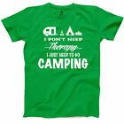 I Dont Need Therapy I Need Camping T Shirt Camper Life Funny Camp S Unisex Tee