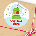 1x A4 Sheet Personalised Christmas gifts presents Stickers Labels snow globe