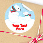 1x A4 Sheet Personalised Christmas gifts presents Stickers Labels Polar Bears