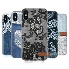 HEAD CASE DESIGNS JEANS AND LACES HARD BACK CASE FOR APPLE iPHONE X