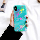 Fashion For iPhone X 7 7Plus 6 6S Plus 8 8Plus Shiny Laser Marble TPU Cover Case