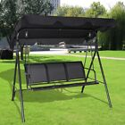 3Person Family Outdoor Patio Hammock Chair Canopy Glider Porch Swing Bench Chair