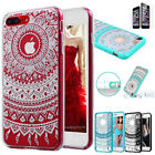 iPhone 8 7 8 Plus Luxury Case Mandala Pattern Clear Bumper Print Cover for Apple